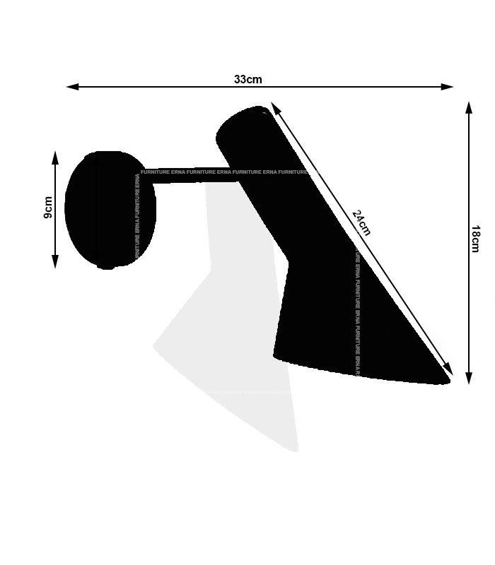 Arne-Jacobsen-AJ-Style-Wall-Lamp-–-Black-&-White