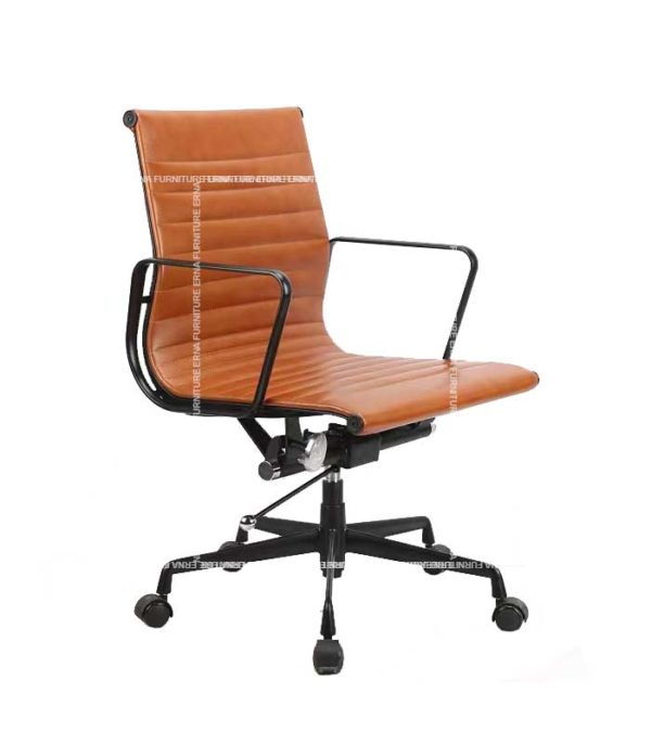 Eames Style Lowback Leather office Chair (4)