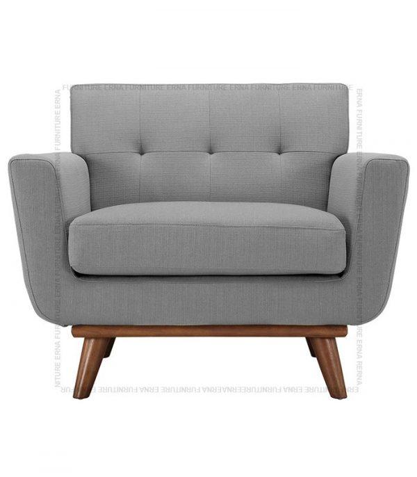 Kiruna Single seater fabric sofa Grey