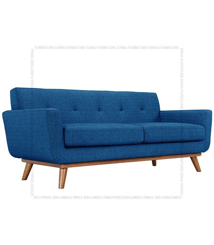 Kiruna 2 or 3 seater fabric sofa Blue (1)