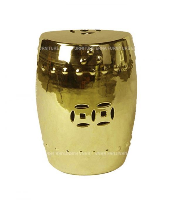 Grand Drum Stool Gold color