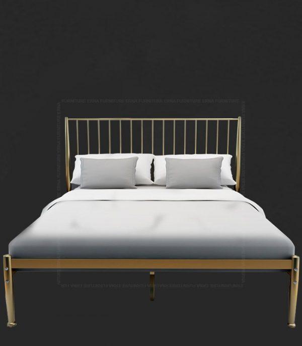 Metal Bed Frame - Gold