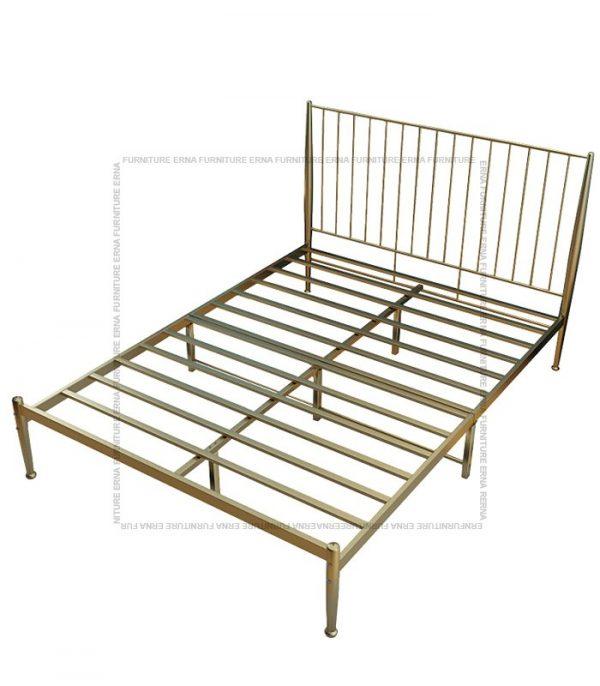 Metal Bed Frame - Gold (1)