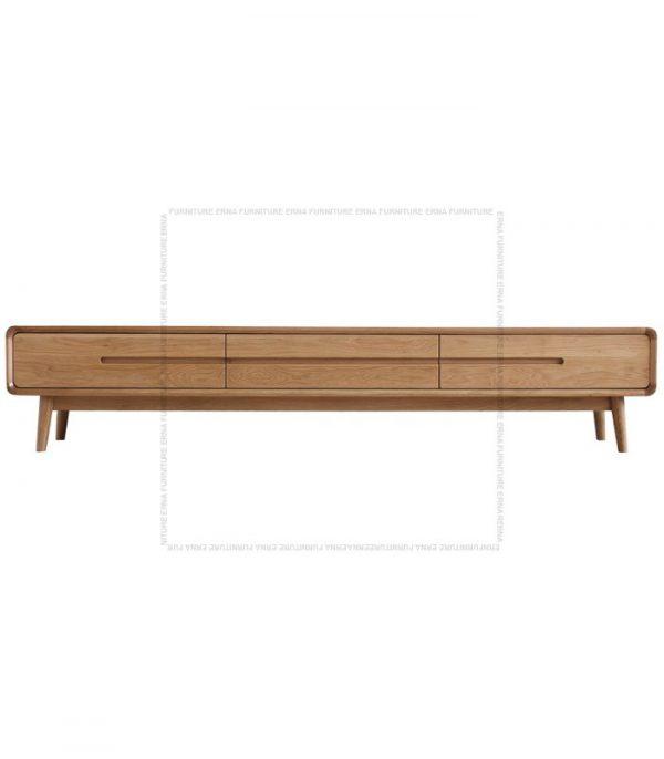 Modson Solid Oak Wood TV Cabinet Oak