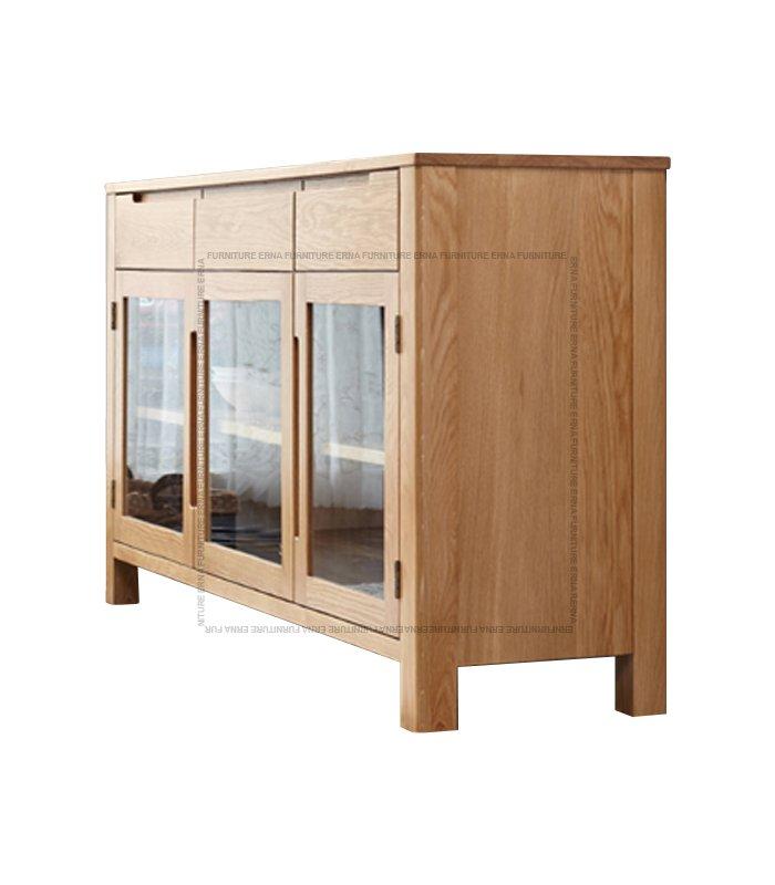 Vele Solid Oak Wood three-doors Cabinet (1)
