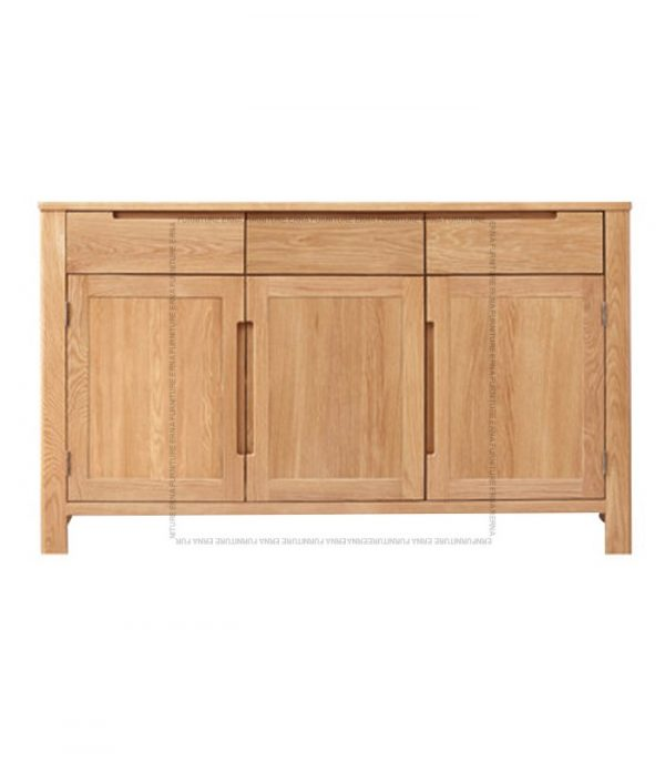 Vele Solid Oak Wood three-doors Cabinet (2)