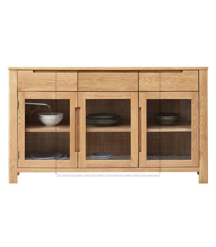 Vele Solid Oak Wood three-doors Cabinet (3)