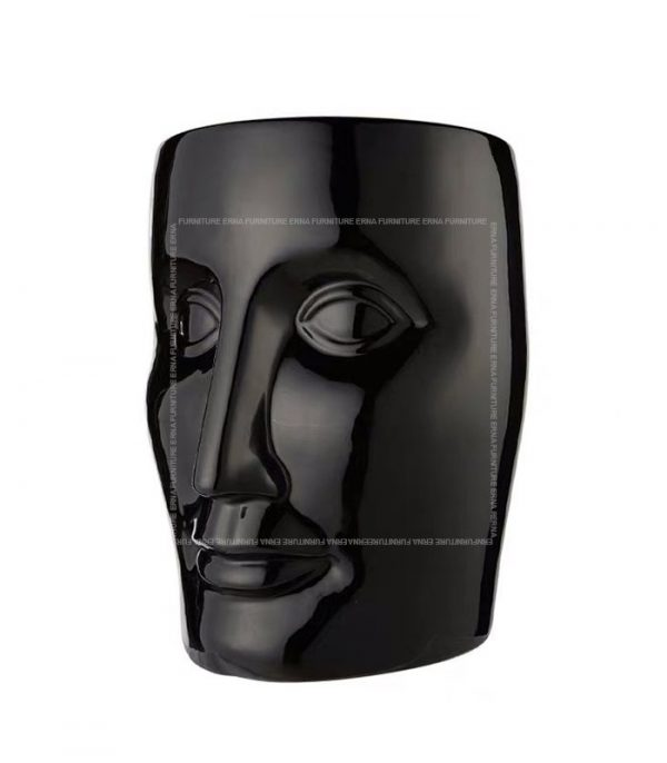 xO-Bonze Style Ceramic Head Stool Black