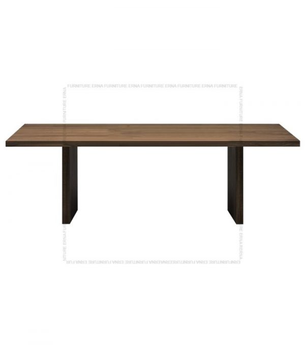 Banjul Solid Oak Wood Dining Table Dark