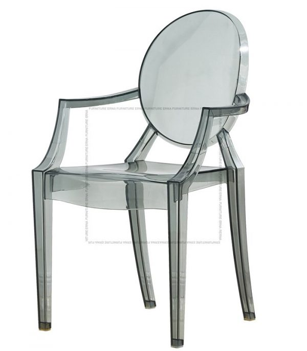 Kartell Louis Ghost Style Armchair Transparent Black