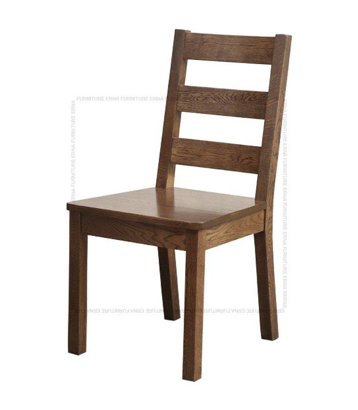Malan Solid Oak Wood Dining Chair Walnut (1)