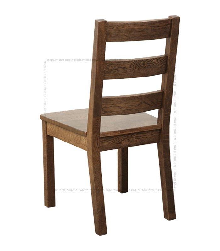 Malan Solid Oak Wood Dining Chair Walnut