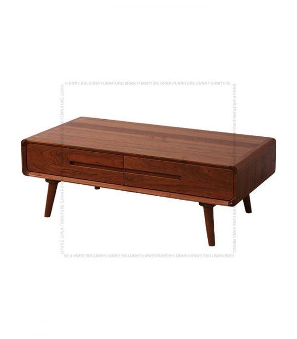 Modson Solid Oak Wood Coffee Table Walnut