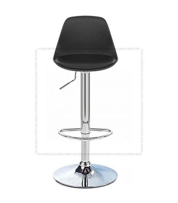 Swivel Adjustable Bar Stool Black