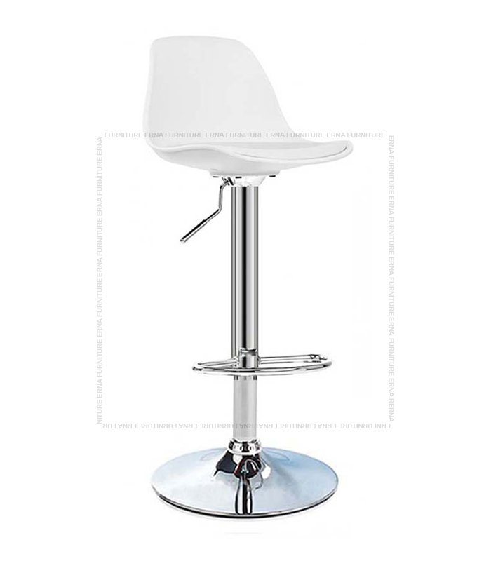 Swivel Adjustable Bar Stool White