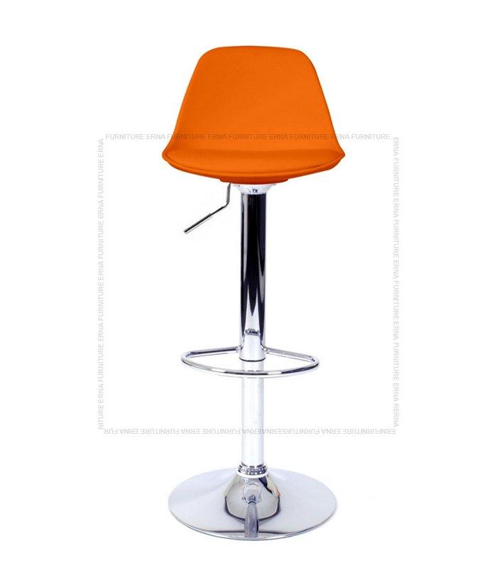Swivel Adjustable Bar Stool Orange