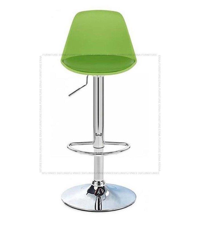 Swivel Adjustable Bar Stool Green