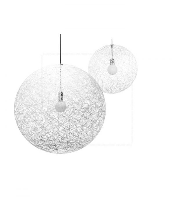 Woven Ball Pendant Lamp White