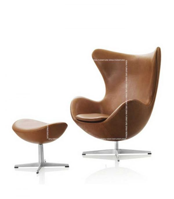 Arne-Jacobsen-Style-Leather-lounge-chair-with-ottoman