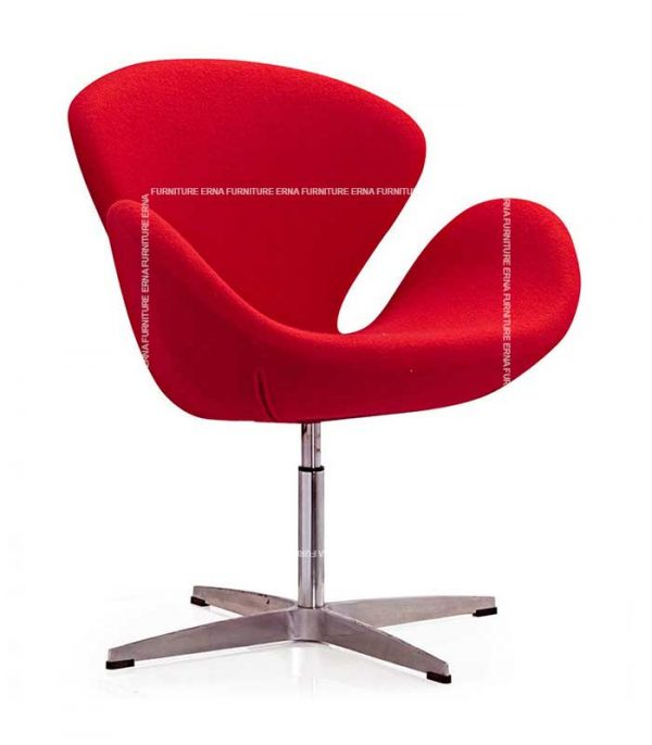 Arne-Jacobsen-Style-Swan-Chair-Red