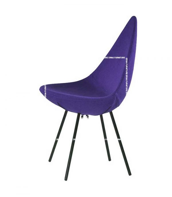 Drop-Style-Plastic-Dining-Chair-Blue Fabric
