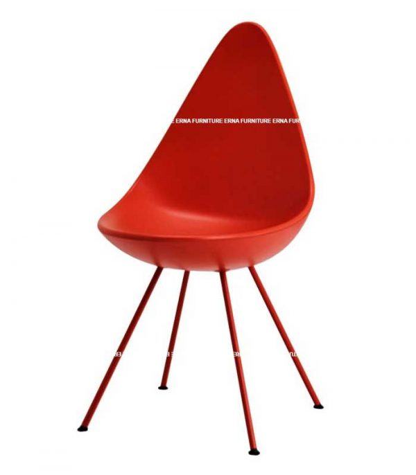 Drop-Style-Plastic-Dining-Chair-Red