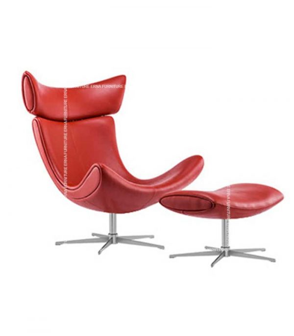 Imola-Style-Leather-Lounge-Chair-Red-Ottoman