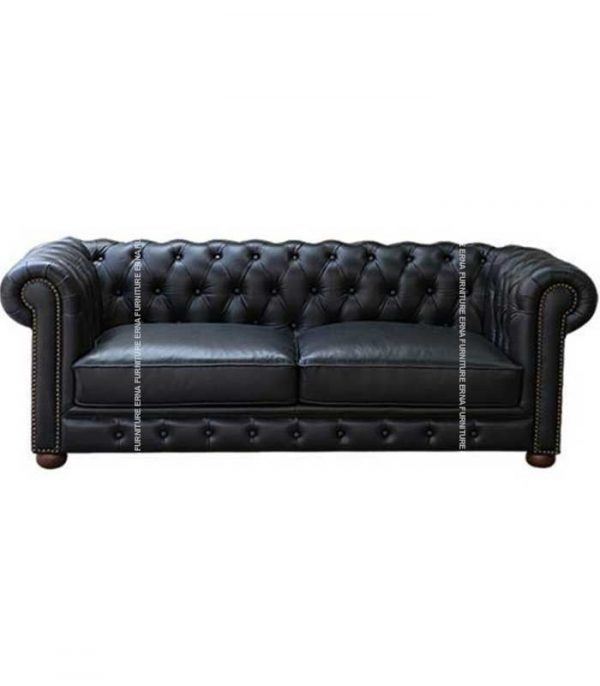 2-Seater Chesterfield Leather Sofa