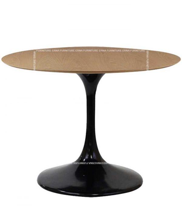 Eero Saarinen Tulip Style Wood Round Table (2)