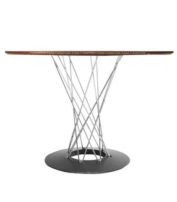 Isamu Noguchi Style Cyclone Table - Black Walnut (1)