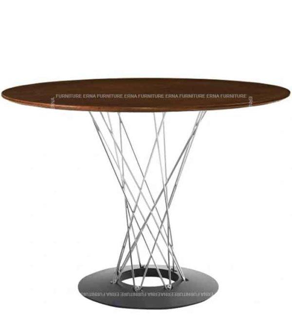 Isamu Noguchi Style Cyclone Table - Black Walnut (2)