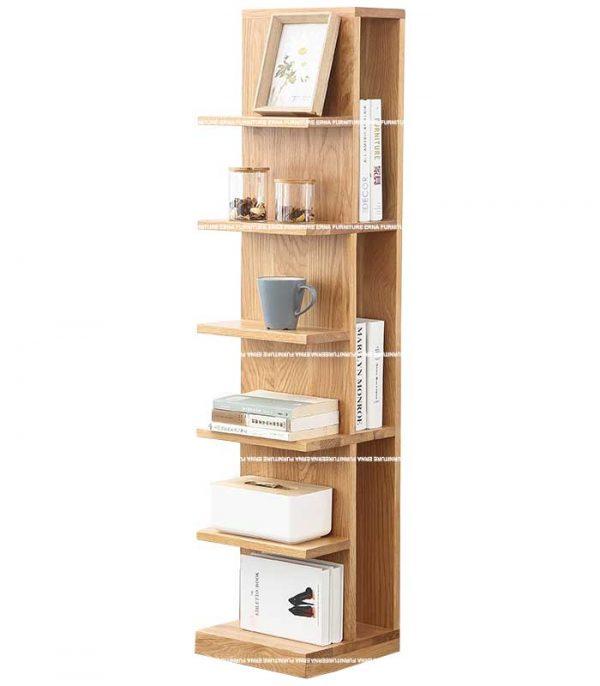 Monside Solid Oak Wood Bookshelves (2)