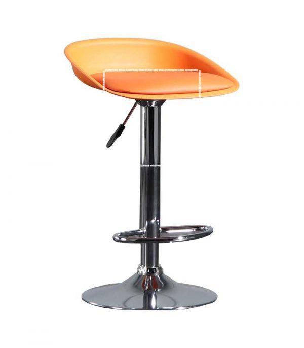Dallas Leather Bar Stool- Orange