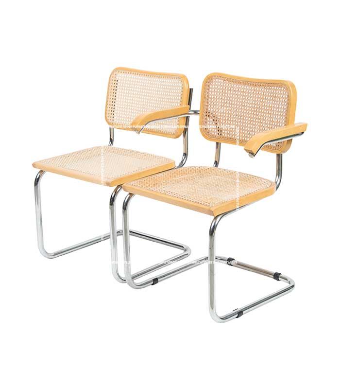 Marcel Breuer Style Cesca Cane Chair (2)