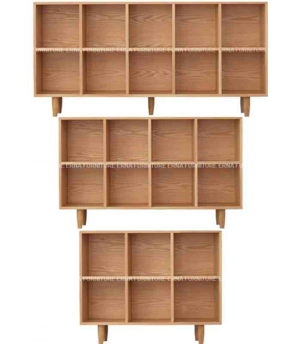 Cypher Solid Oak Wood Bookcase (1)