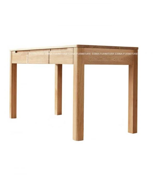 Study table-Noton Solid Oak Wood Desk and Stool (1)