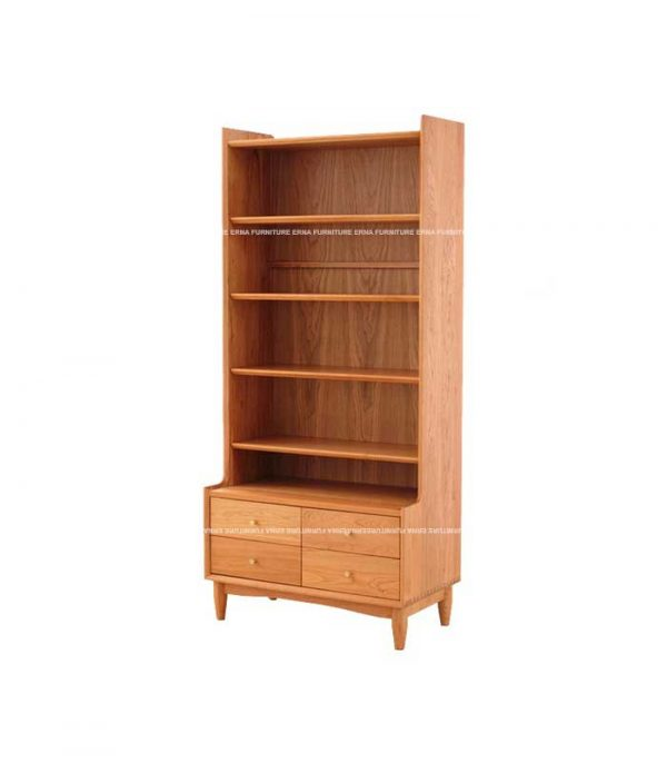 keeton Solid Oak Wood Bookcase (4)