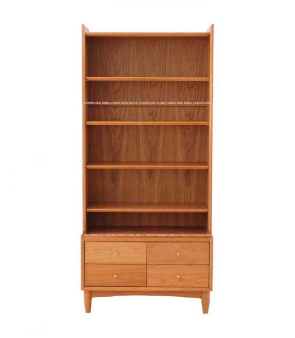 keeton Solid Oak Wood Bookcase (5)