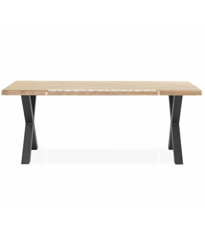 Silva Industrial Style Wood Table (2)