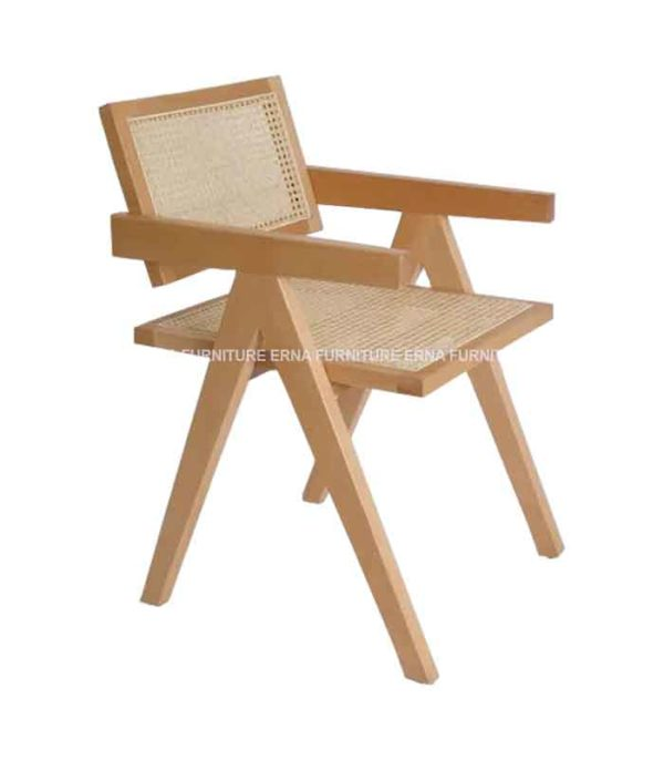 Chaitra CHD Indian Style Rattan Dining Chair (4)