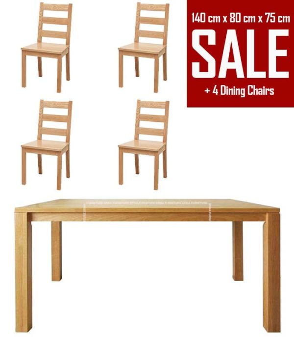 Nord Solid Wood Dining Table Set